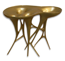 Gloss gold table